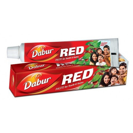 Dentifrice rouge bio à base de plantes - Dabur red - 200 g