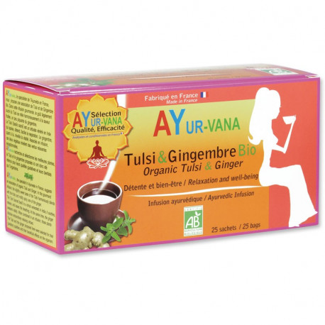 Infusion BIO Tulsi & Gingembre - 25 infusettes