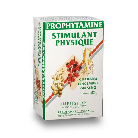Infusion Stimulant Physique base de Guarana, Gingembre et Ginseng