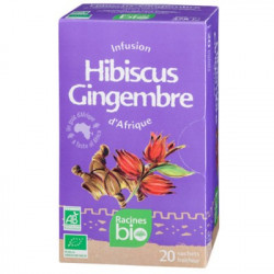 Infusion Bissap Hibiscus gingembre BIO