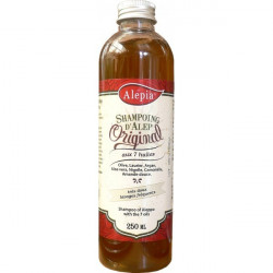 Shampoing Alep aux huiles essentielles (Argan, Nigelle, Laurier, Aloe, Camomille, Olive...)